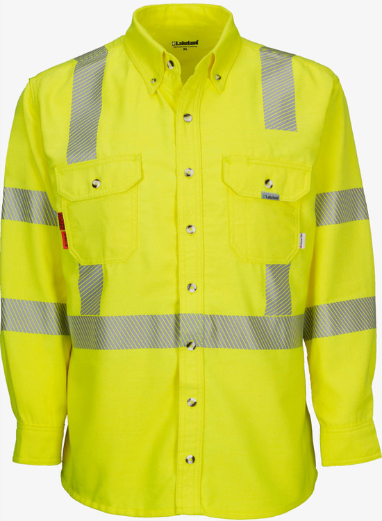 Lakeland Hi-Vis Westex Button Up Shirt