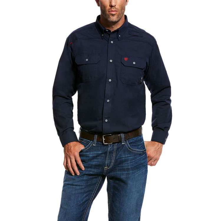 Ariat FR featherlight Navy Work Shirt