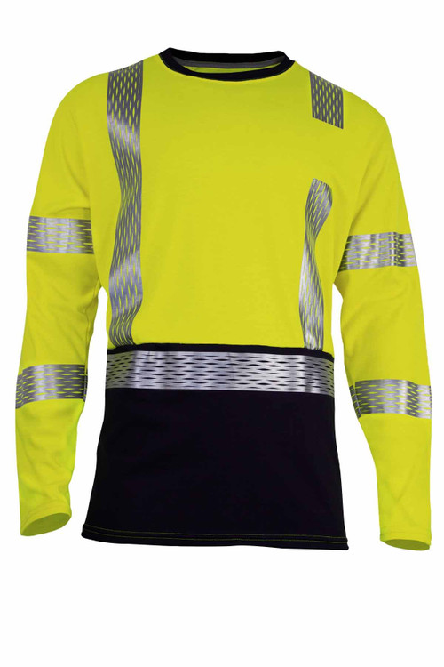 NSA VIZABLE FR HI-VIS DUAL HAZARD LONG SLEEVE HYBRID
