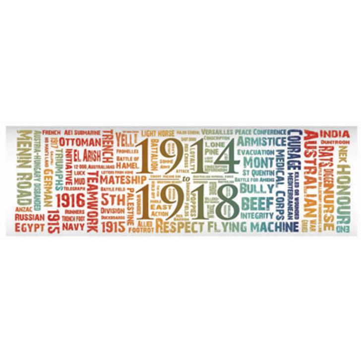 Great War Word Art Sticker - Colour