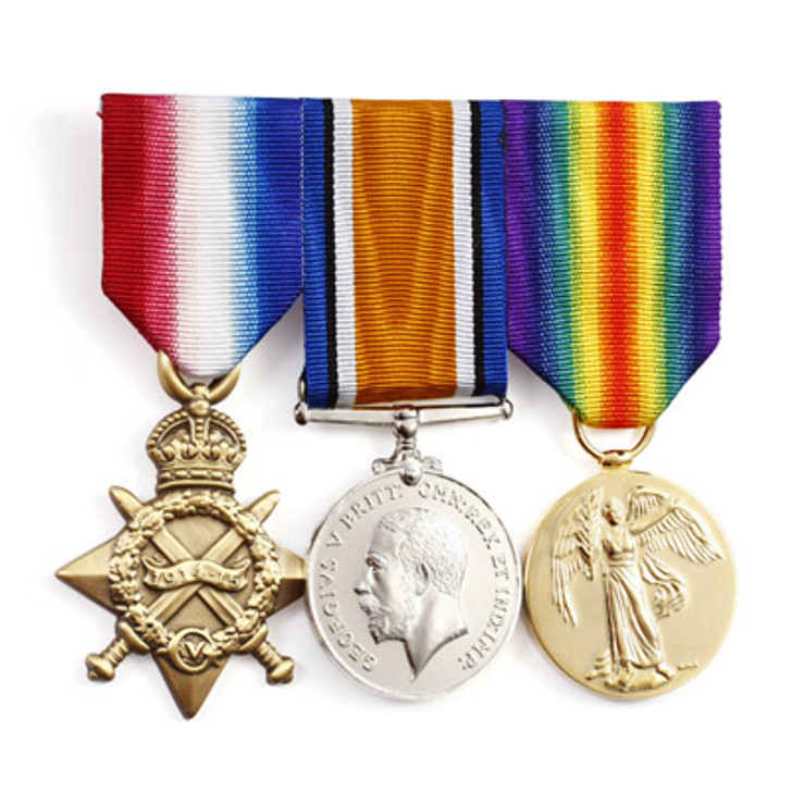 Miniature Replica WW1 Service Medal Trio