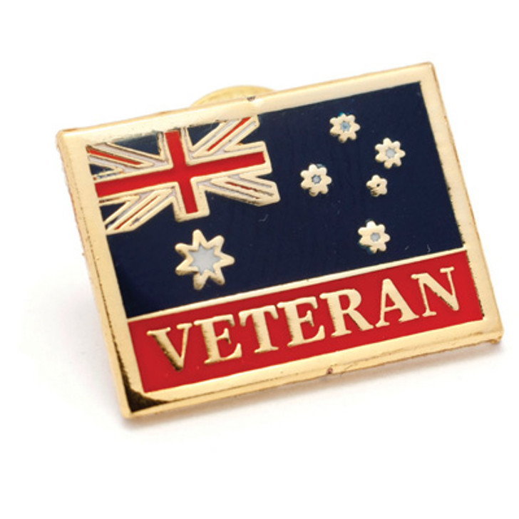 Army Veteran Flag Badge