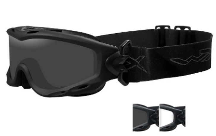 Wiley X Spear Two Lens Goggles w/Black Frame