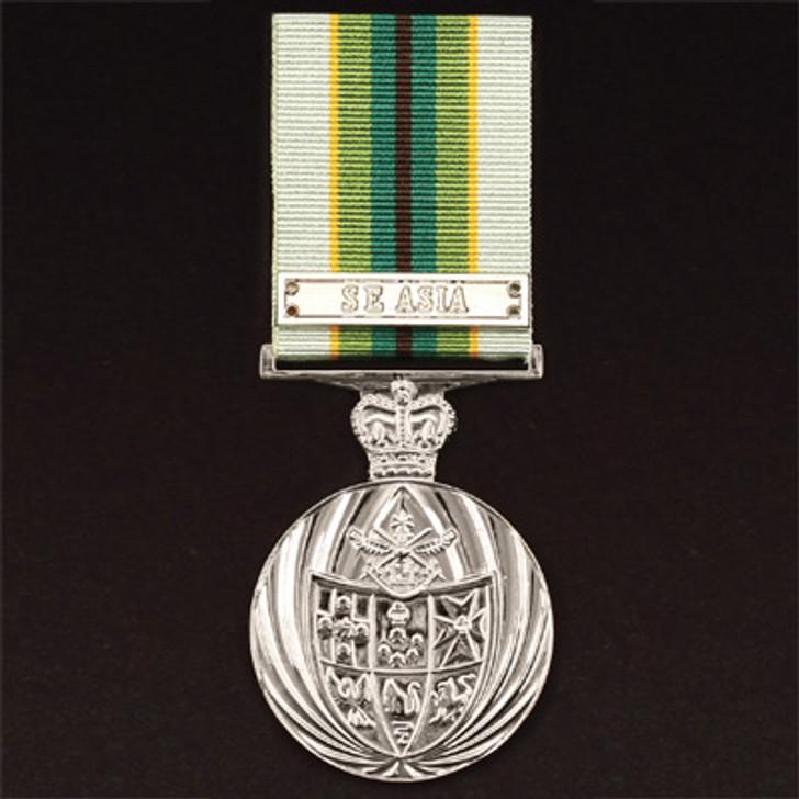 Australian Service Medal 75+ Miniature (medal & ribbon)