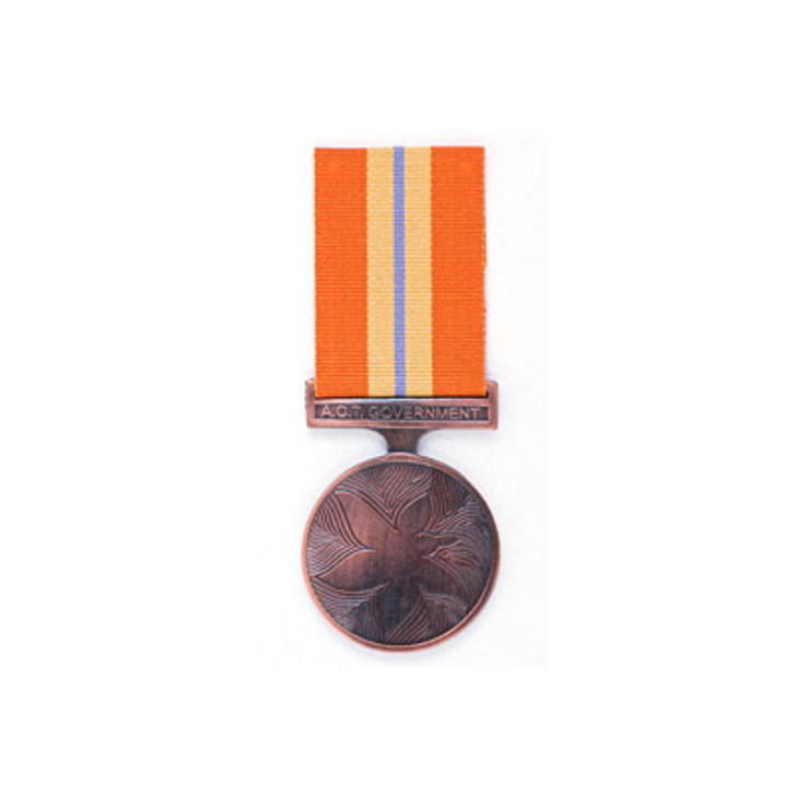 ACT Emergency Services Medal Miniature (medal & ribbon)