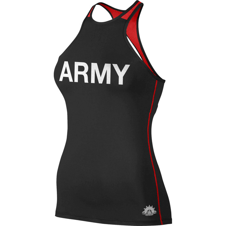Army Ladies Singlet Black/Red