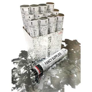 """12"""" Confetti Cannon - Metallic Silver"""