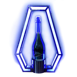 LED Bottle Presenter Unique Polygon (Remote Control Color Changing)