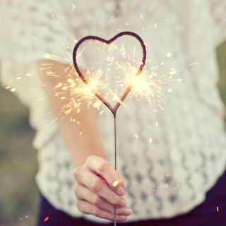 Heart Wedding Sparklers - 12 inch