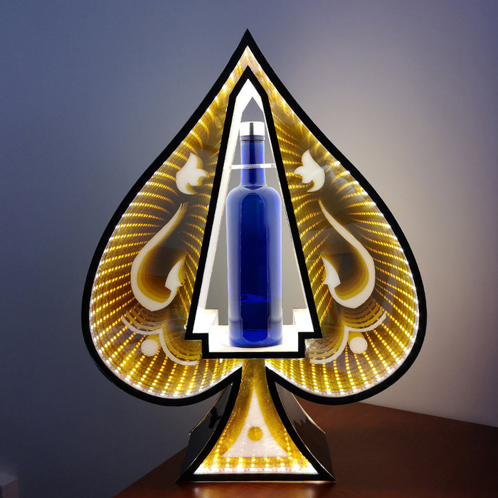 LED Bottle Presenter Infinity Mirror Spade