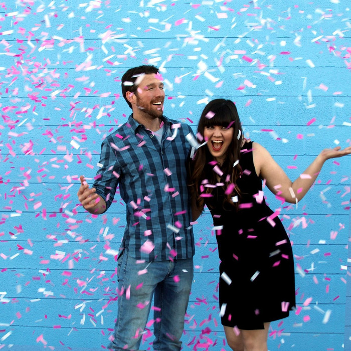 Gender Reveal - Pink Confetti