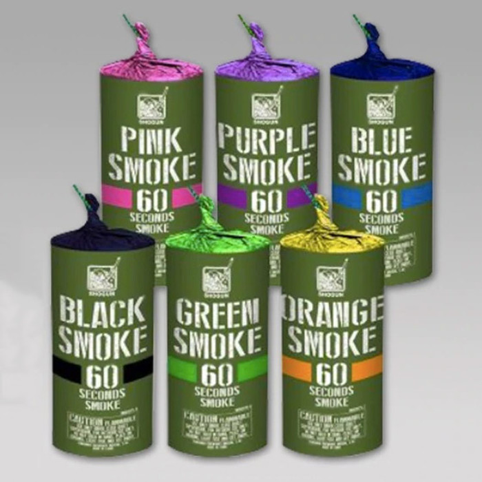 Smoke bomb canisters