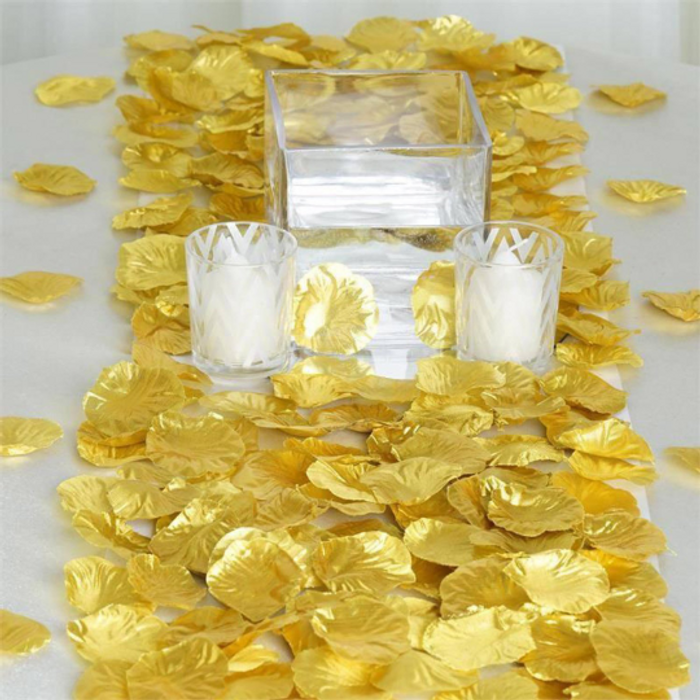 Gold Silk Rose Petals (100 Pieces)
