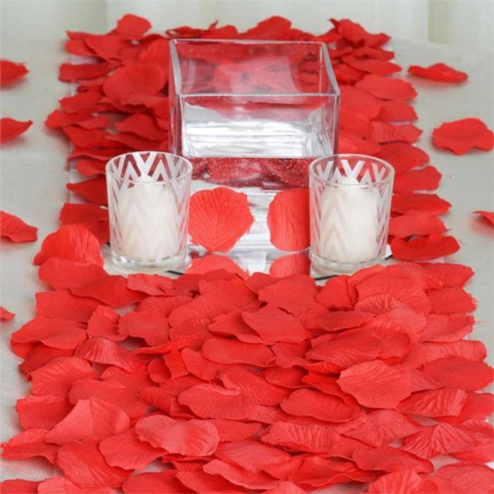 Red Silk Rose Petals (100 Pieces)
