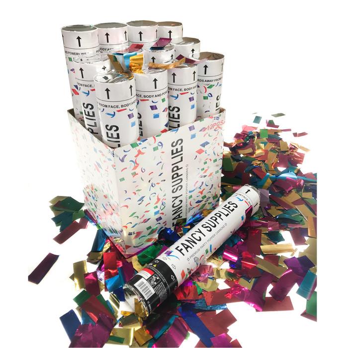 """12"""" Confetti Cannon - Metallic Multi-Color"""