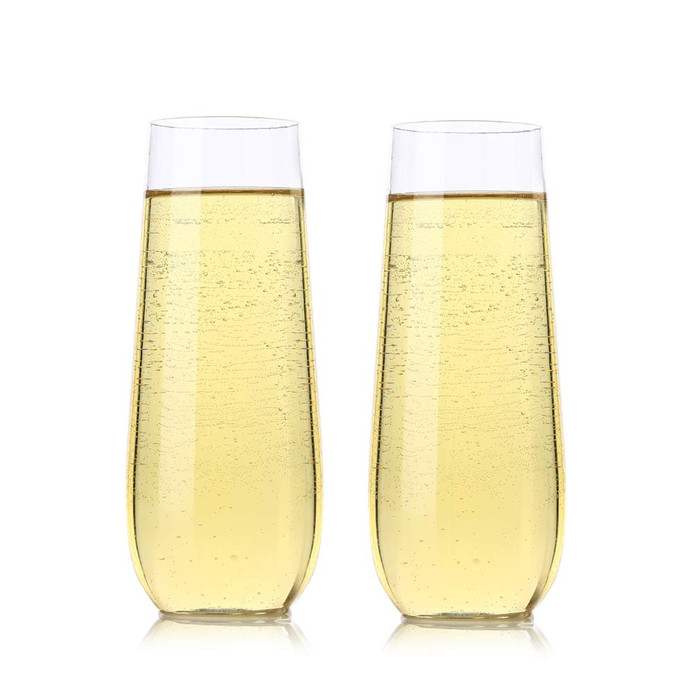 Champagne Flutes 10-ounce Clear Plastic Toasting