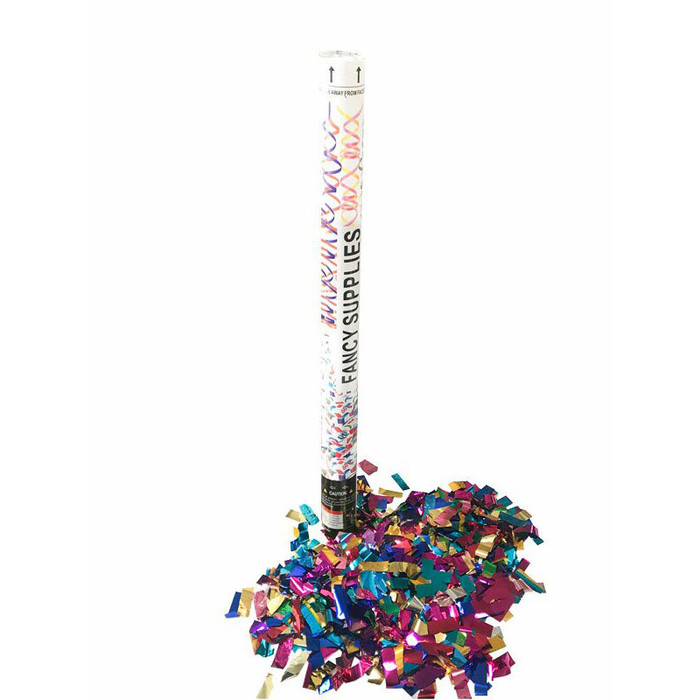 "30"" Confetti Cannon - Metallic Multi-Color"