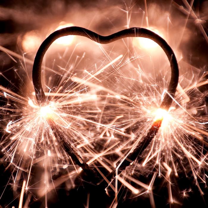 Heart Wedding Sparklers - 12 inch
