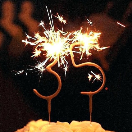 Birthday Candle Sparklers Numbers
