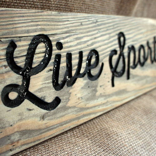Distressed Wooden Signs - engraved 19mm thick wooden planks - ideal for a vintage, rustic look.