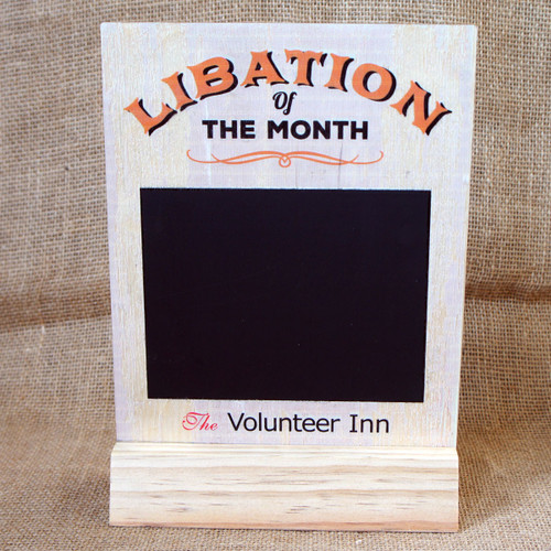 """Pub Signs and Notices - Free standing """"Libation of the month"""" pub / bar sign produced from 4mm ply."""