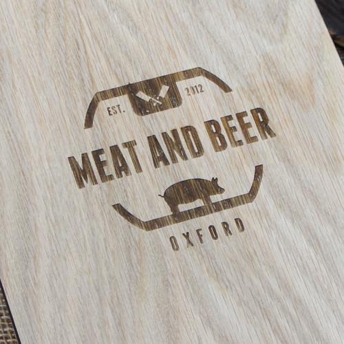 Engraving / branding on wooden clipboard