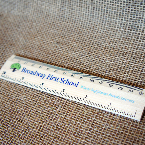 Printed Long Rules (30cm) - short and long runs,  these printed rulers make great promotional items