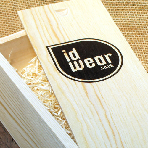 Wooden Printed Wineboxes - ideal for short run corporate gifts