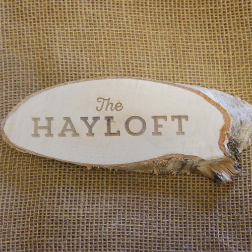 Engraved Wood Slice Sign - ideal for walls and doors
