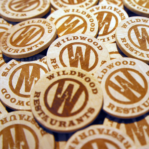 Engraved Wooden Token Magnets - ideal promotional and gift items