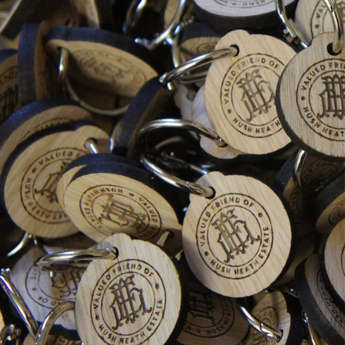 Engraved Wooden Promotional Keyrings / Keyfobs