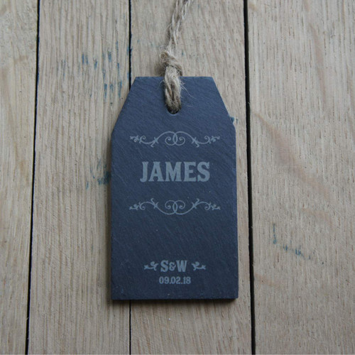 Personalised slate tag - an ideal place setting