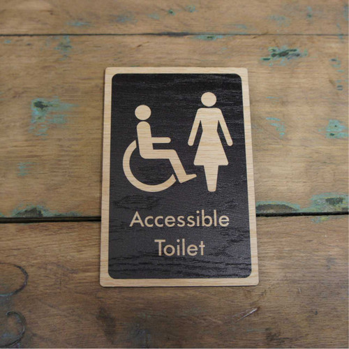 Mens, Ladies, and Disabled Toilet  Symbol Wooden Signs - Wooden Health & Safety Signs