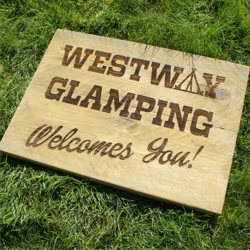 Distressed rustic whitewood signs - rustic wooden signs that are 38mm thick