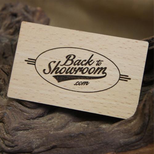Wooden Engraved Business Cards - beech wood veneer business cards