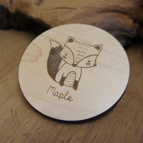 Wooden engraved coasters - 5mm to 6mm thickness Maple wood