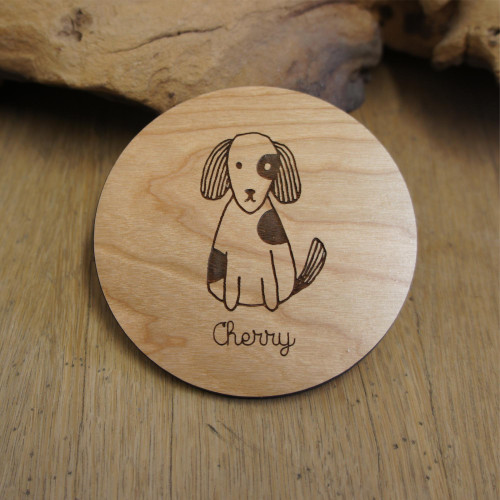 Engraved cherry wood coasters