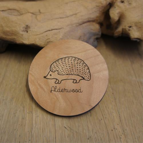 Engraved wooden coasters - solid alderwood