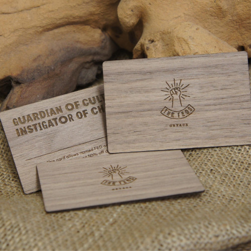 Wooden Membership / Loyalty Cards from walnut veneered business cards