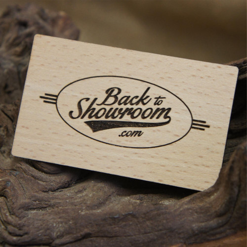Beech membership cards - engraved wooden business loyalty cards