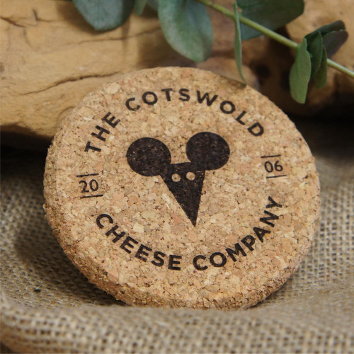 Engraved premium cork coasters with your logo / branding / message