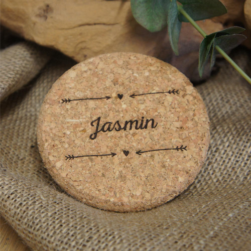Cork Coasters - ideal named place settings. All artwork is engraved into the coasters.