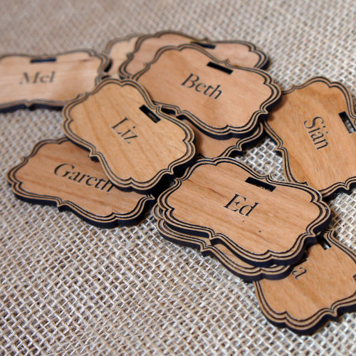 Personalised engraved tags with lanyard fixings