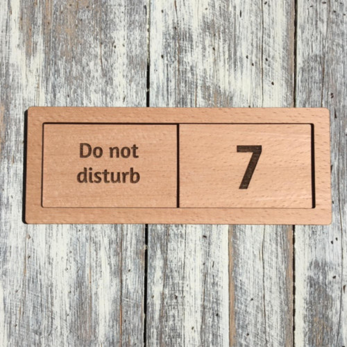 Small beech veneered slider door signs - your sign details can be engraved into a veneered wooden sign.  A lightweight wooden sign that is ideal for meeting rooms, hotels and care homes. Signs can also be stained and printed to your corporate colours.