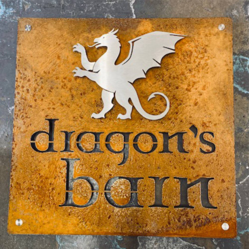 Stainless and Corten (Cor-ten) steel signs for both house and business.