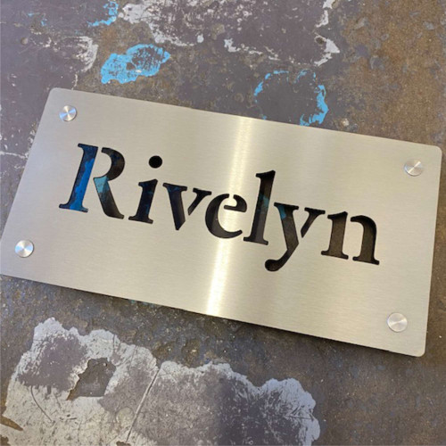 Stainless steel house sign. Personalised stainless steel house signs and numbers.