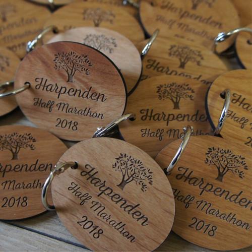 Engraved Wooden Medals