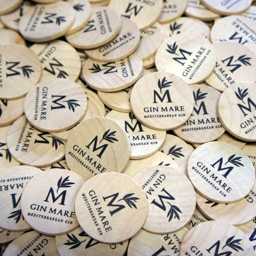 Wooden Printed Tokens -ideal money alternatives & promotional gifts