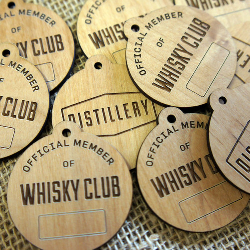 Engraved Wooden Tags and Labels - ideal POS hanging tags