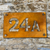 Rusty steel house names and numbers. Rusty steel signs. Weathered steel signs. Corten steel signs.